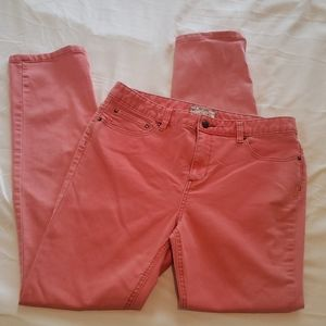 Free People coral jeans